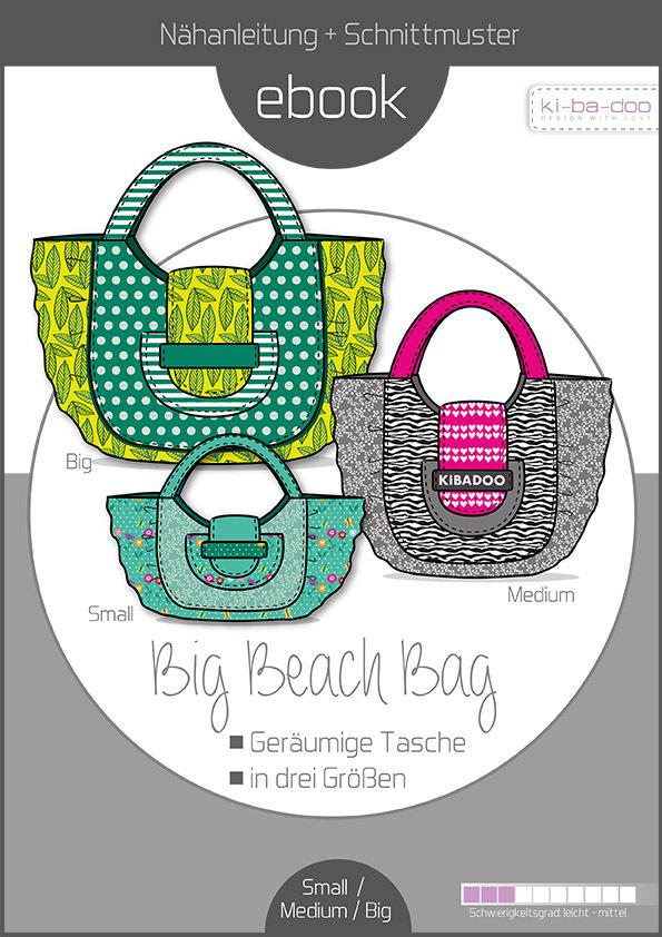 Ebook big beach bag- Schnittmuster und Anleitung als Pdf Datei in A4 ...