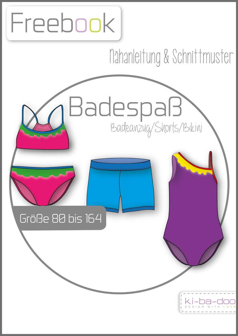 Freebook Badespaß-Badebekleidung Kids - Schnittmuster und Anleitung ...