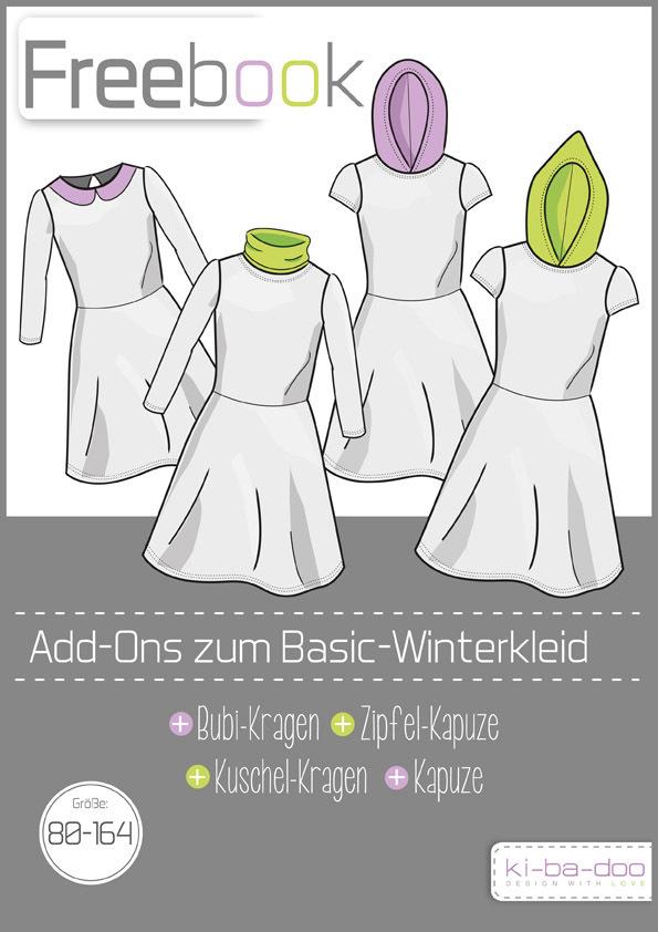 Freebook zum Basic Winterkleid Kids - Schnittmuster und Anleitung ...