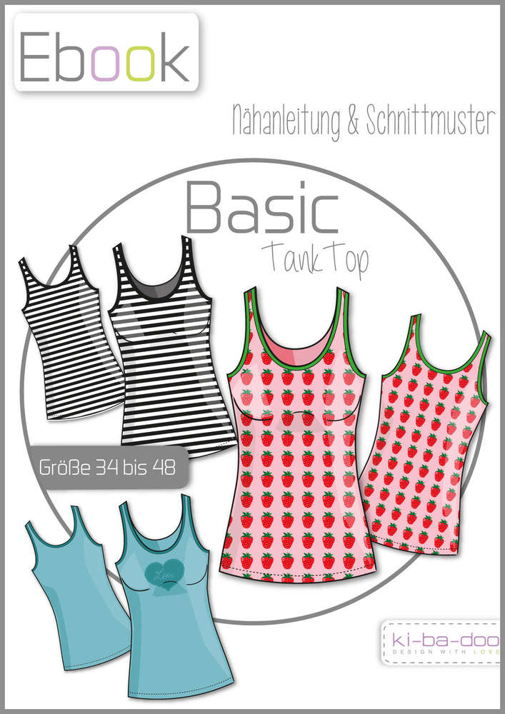 Ebook Basic Tank Top - Schnittmuster und Anleitung als PDF Datei in ...
