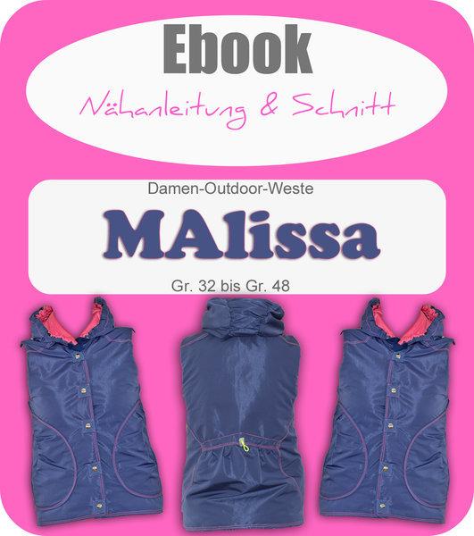 Ebook MAlissa - Damenweste Schnittmuster und Anleitung als PDF Datei ...