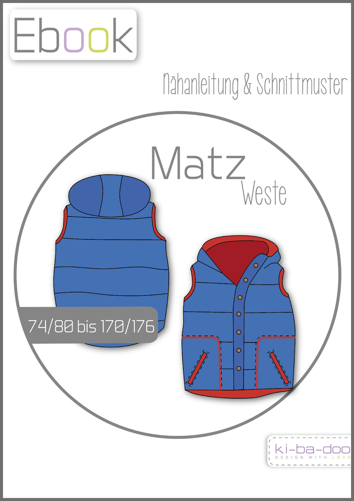 Ebook Weste Matz - Schnittmuster und Anleitung als PDF Datei in A4 ...