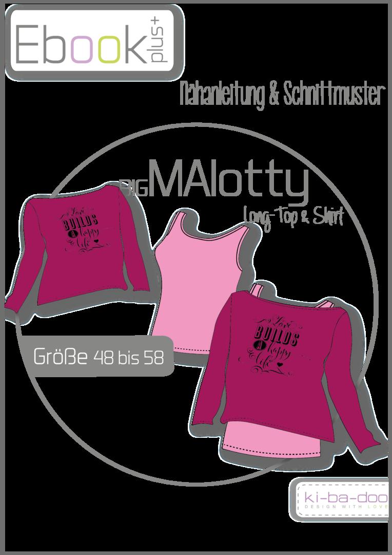 Ebook plus Doppel-Shirt BIG MAlotty - Schnittmuster und Anleitung ...