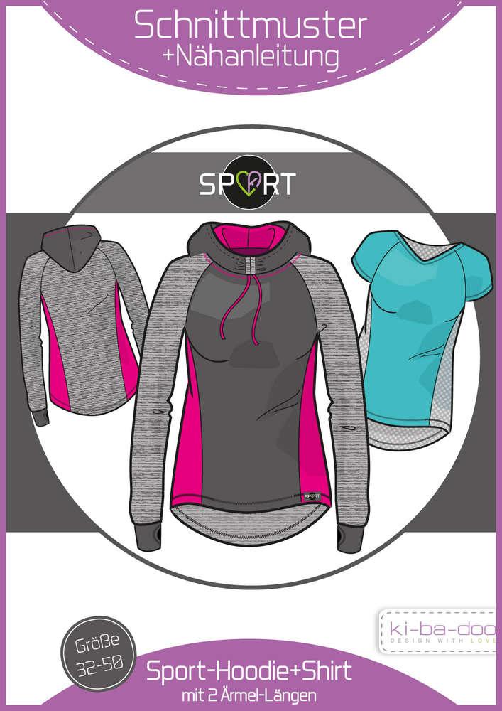 23b68bcc3f Ebook Sporthoodie/-Shirt Damen - Schnittmuster und Anleitung als PDF Datei  in A4
