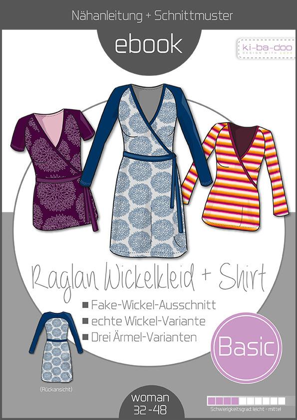 Ebook Damen Basic Raglan-Wickelkleid/-Shirt - Schnittmuster und ...