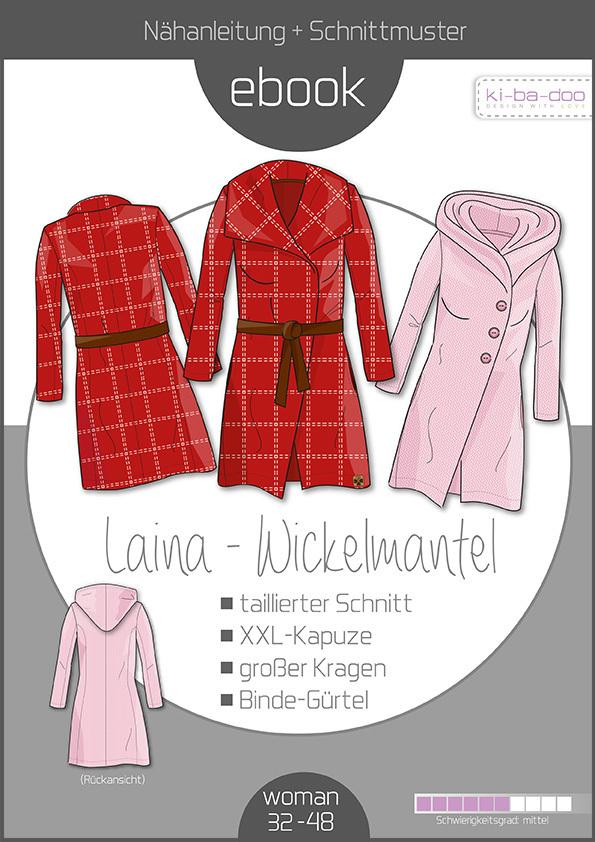 huge discount b8be9 08487 Ebook Laina Damen-Mantel - Schnittmuster und Anleitung als PDF Datei in A4