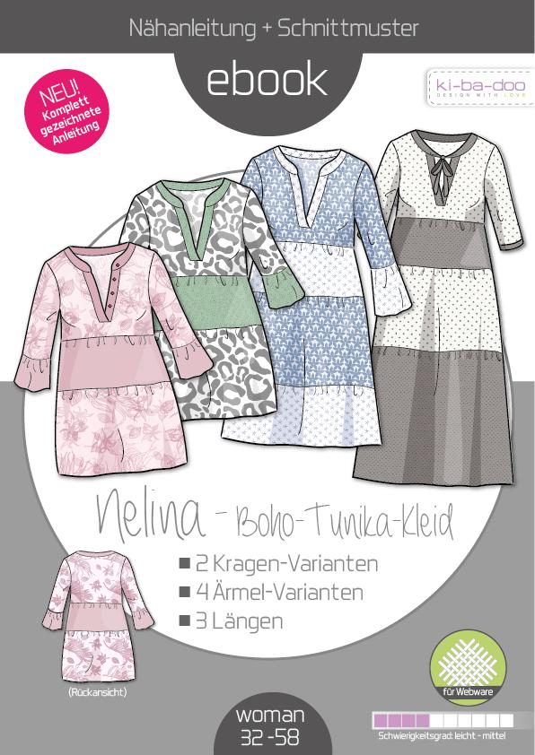 Ebook Boho Kleid Nelina Damen Gr 32 58 Schnittmuster Und Anleitung Als Pdf Datei In A4 Viele Ebooks Und Papierschnittmuster Zum Selber Nahen