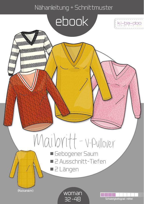 7f52e7575b Ebook V-Pulli Maibritt - Schnittmuster und Anleitung als PDF Datei ...